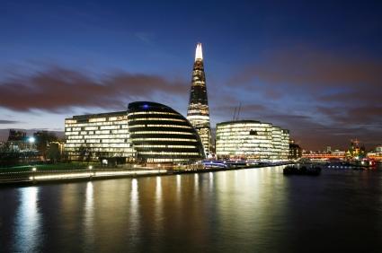 """Der Blick auf London mit dem Wolkenkratzer """"Shard"""". (Quelle: istockphoto)"""