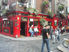 Die berühmte Temple Bar im Künstlerviertel. (Quelle: privat)